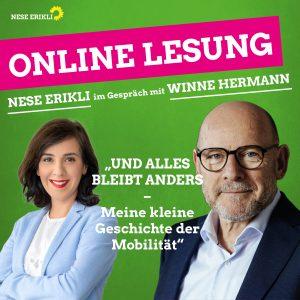 Pressemitteilung: Landtagsabgeordnete Erikli lädt zur Online-Lesung mit Winne Hermann